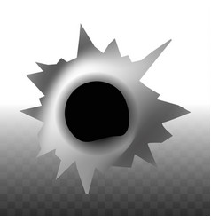 bullet trace hole in wall shape transparent vector image