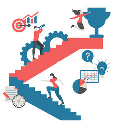 business and success concept business and success vector image