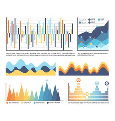 business infographics and flowcharts in color vector image