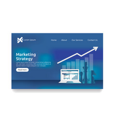 business marketing strategy spreadsheet on screen vector image