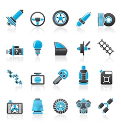 Car part and services icons 1 vector