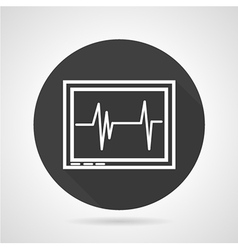 Cardiogram black round icon vector image