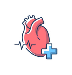 Cardiology department rgb color icon vector