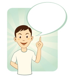 Cartoon man with speech bubble vector