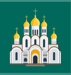 Cathedral orthodox churche temple building vector