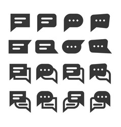 chat speech bubbles and dialog balloons glyph vector image