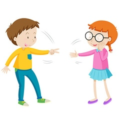 Children playing rock paper scissors vector