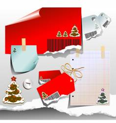 Christmas tags and notes vector