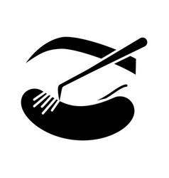 Classic individual eyelash extension glyph icon vector