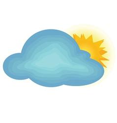 Cloudy with partial Sun vector