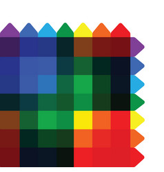 colorful overlapping square background vector image