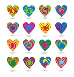 Colorfull Heart Element vector