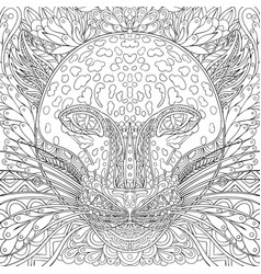 coloring page cheetah tiger leopard book vector image