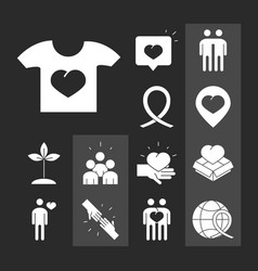 community together support charity donation vector image