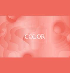 coral color background fluid shapes pattern vector image