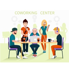 Coworking center vector