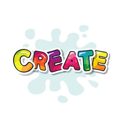 Create t-shirt design cartoon colorful letters vector