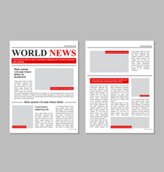 creative of daily newspaper vector image