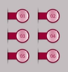 Crimson tabs vector