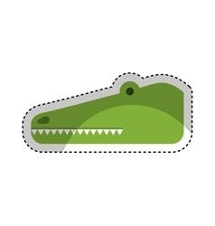 Cute crocodile character icon vector