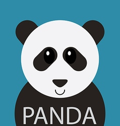 Cute Panda bear cartoon flat icon avatar vector