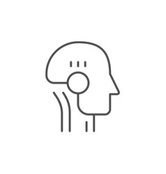 cyborg or artificial intelligence icon vector image