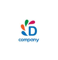 d letter logo vector image