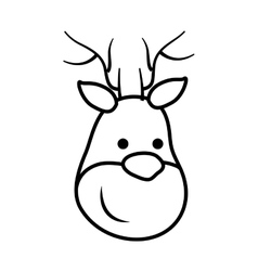 Deer icon Merry Christmas design graphic vector