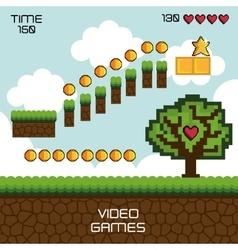 display game pixel vector image