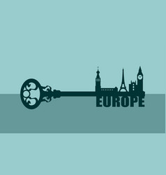 Diversity monuments of europe vector