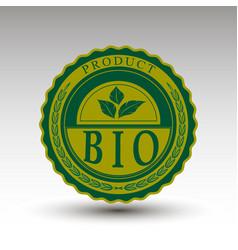 Emblem with bio text vector