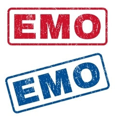 Emo Rubber Stamps vector