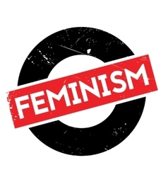 Feminism rubber stamp vector