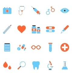 Flat Medical Icon Set vector