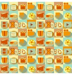 flat movie seamless vector image