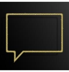 Frame Gold Sequins Speech Bubble Sparkle Stars vector