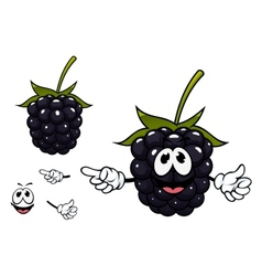 Funny ripe blackberry fruit character vector