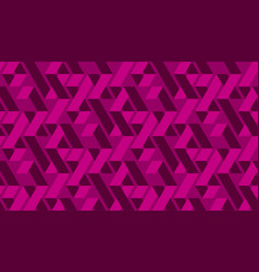 geometric vivid magenta zig zag seamless pattern vector image