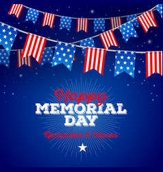 happy memorial day type design vector image