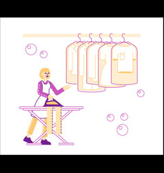 housewife or maid in laundrette female character vector image