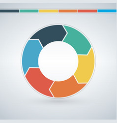 infographic circle template for graph cycling vector image