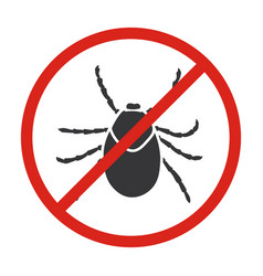 Insect mite iconblack icon isolated vector