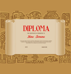 Kids certificate or diploma education template vector