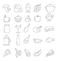 Line Food Icon set vector image