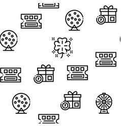 Lottery gambling game seamless pattern vector