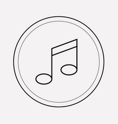 music note icon line element vector image