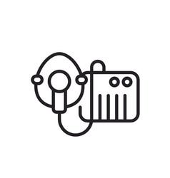 Nebulizer or inhaler with mask line icon vector