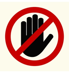 No entry stop hands vector