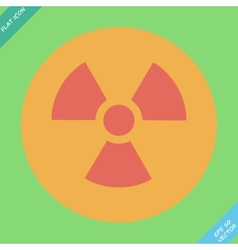 Nuclear sign representing the danger of radiation vector