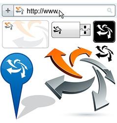 Original arrows design element vector image